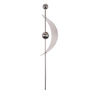 Mondsichel Design Edelstahl Gartenstecker MIRROR 2K Edelstahl Bogen L