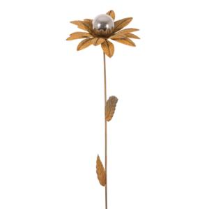 Design Edelstahl Gartenstecker Edelrostblume MIRROR Narzisse S