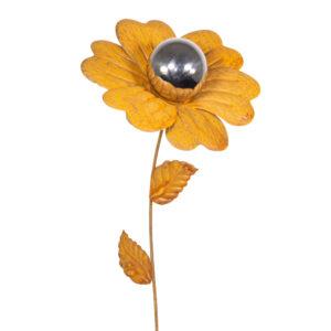 Design Edelstahl Gartenstecker Edelrostblume MIRROR Heide-Nelke S CM60758_1