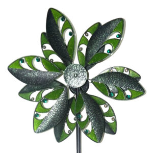 Blumenwindrad Kinetic Spinner Tropic - Metall Windspiel Blume 57cm