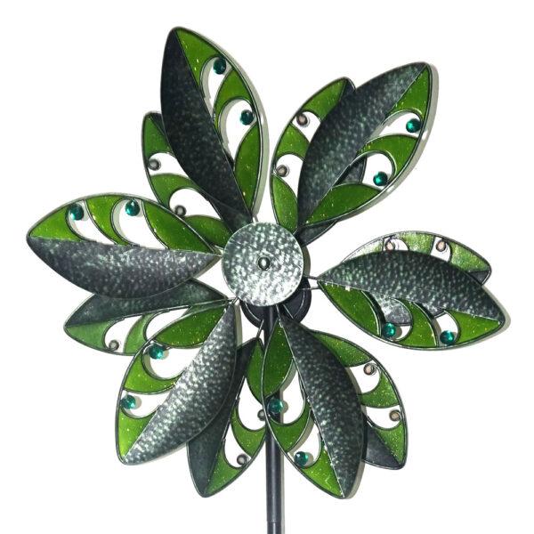 Blumenwindrad Kinetic Spinner Tropic - Metall Windspiel Blume 57cm