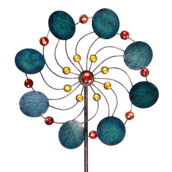 Exotic Flower Jade Windspiel Metallwindrad - bewegliches Gartenobjekt