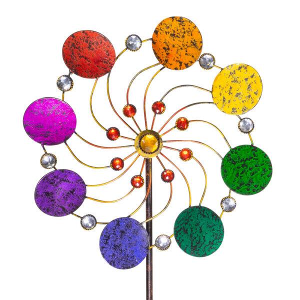 Exotic Flower Rainbow Windspiel Metallwindrad Regenbogen - bewegliches Gartenobjekt
