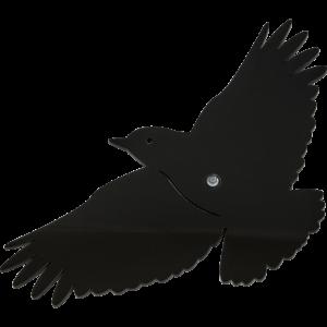 Sun Dancer Vogel Schwarz Fensterdeko Acrylglas-Vogel, inkl. Saugnapf