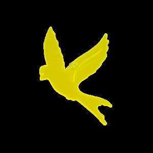 Sun Dancer Vogel Fensterdeko Acrylglas-Vogel gelb, inkl. Saugnapf - Vogelabwehr