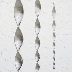 Windspiele Acrylglas Pirouette Silber (4 Stck.) - wetterfest und lichtreflektierend
