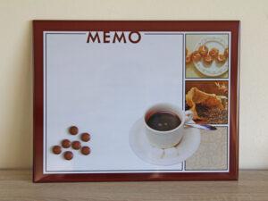 Café Magnettafel Kaffee Memoboard - mit Magneten
