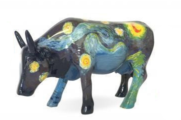 Cowparade Sternennacht Vincent Van Gogh Kunstwerk Cowparade Collectables A 46601