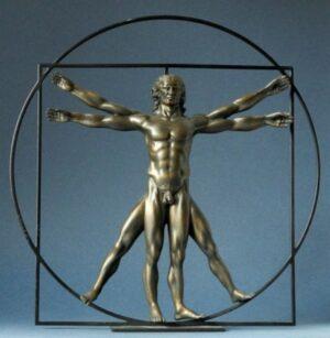 Skulptur Da Vinci Der Vitruvianische Mensch, Parastone Skulptur - L´homme de Vitruve - Kupfer