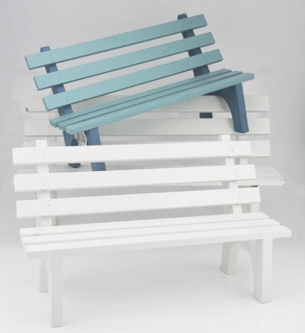 Deko Holz Sitzbank Puppenbank, Bank, Holzbank 24-30cm, blau oder weiß