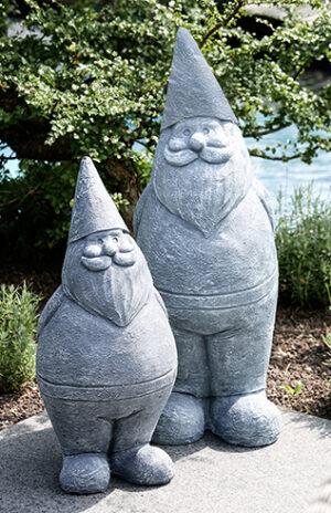 Deko Zwerg - Gartenzwerg Stein Look - Gartenfigur aus Magnesia 60 cm