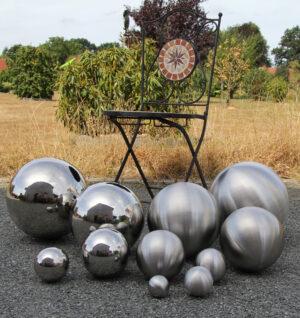 Dekokugel Edelstahl - spiegelnde oder matte Schwimmkugel, Gartenkugel oder als stilvolle Wohndeko