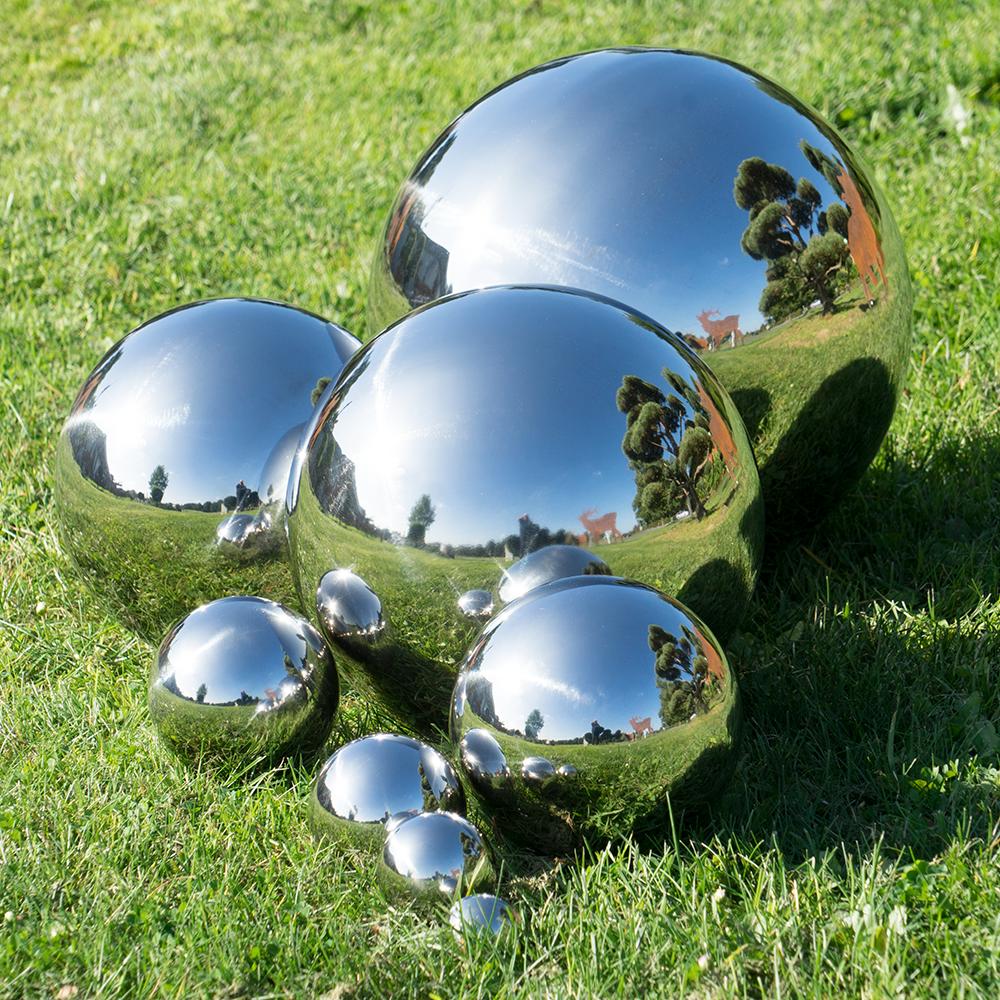 Dekokugel edelstahl spiegelnde schwimmkugel stilvolle for Wohndeko shop