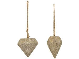 Diamant Weihnachtsbaumschmuck - Glitzer Diamant Hänger Diamant TroupeR225666