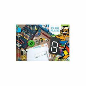 Doppelkarte Du bist klasse für Schulkinder - Individualisierbar KT114