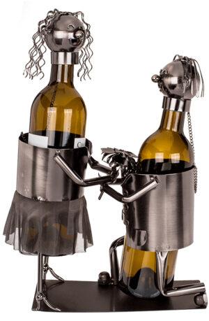 Doppelter Flaschenhalter Liebespaar Skulptur Heiratsantrag - Flaschenständer Merry me