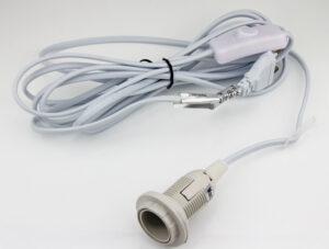 E14-Fassung Kabel mit Schalter, 4m – Zubehör für Papier Stern – Leuchtstern – Deckenlampen – Leuchthäuser