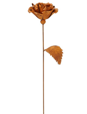 Edelrost Rose aus Metall Gartendeko - Gartenstecker - Wohndeko