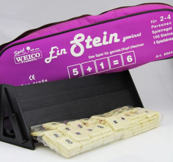 Ein Stein Gewinnt - Kopfrechner Spiel in Reißverschlusstasche.