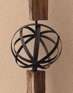 Eisen Kugel aus Blechstreifen Ø 25 cm Pflanzkugel – Metallkugel – Gartenkugel