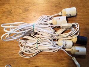 earth friendly Verstromung - Eleketrokabel mit E27 Fassung - Kabel für Innensterne - Zubehör für Papier Stern - Leuchtstern