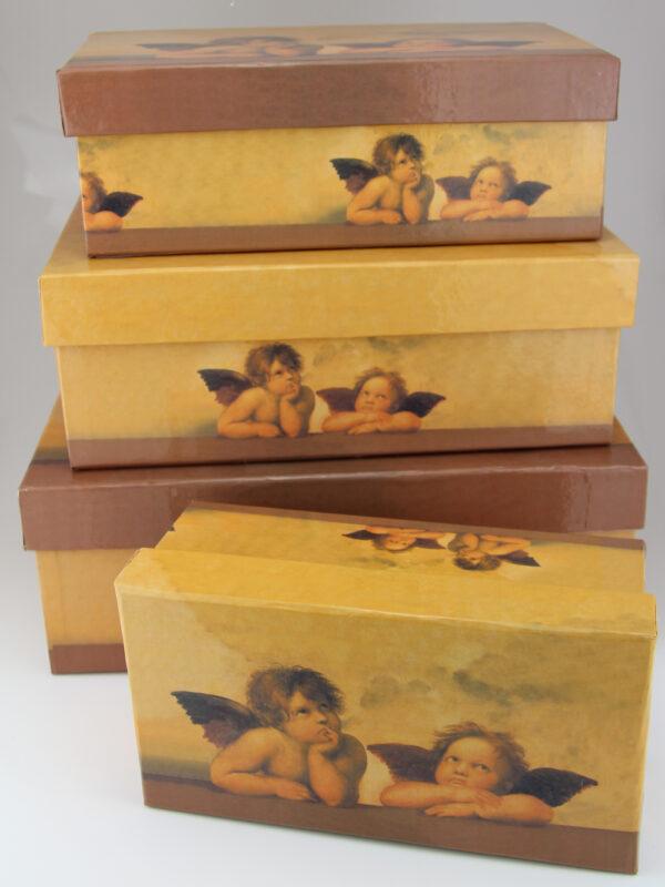 Engel Geschenkbox - Raffaels Engel Geschenkkarton Set+ verschiedene Größen (17 - 28cm, 5er Set)
