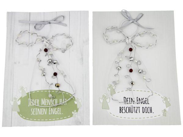 Engelkarte- persönliche Schutzengel Karte Grußkarte mit Engel Geschenkanhänger- Perlenengel Drahtengel