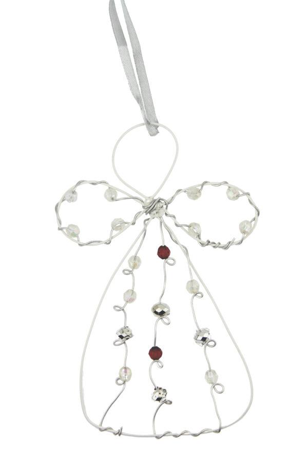 Engelkarte- persönliche Schutzengel Karte Grußkarte mit Engel Geschenkanhänger- Perlenengel - Drahtengel