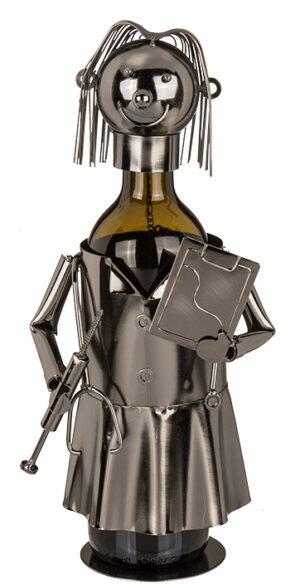 Flaschenhalter Arzt Skulptur Ärztin, Hausarzt - Flaschenständer Doktorin - Medizinerin