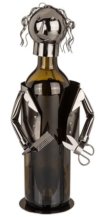 Flaschenhalter Friseurin Skulptur Friseur – Hairdresser – Frisör Weinflaschenhalter Barbier