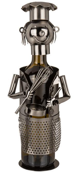 Flaschenhalter Koch Skulptur Chefkoch Weinflaschenhalter Köchin Sekthalter