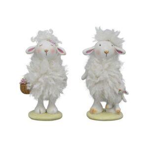 Flauschige Schaf Figur - niedliches Dekoschaf Sannie Kind - Plüsch Schaf 238519_s