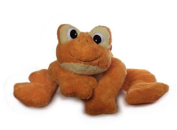 Freaky Frosch Plüschtier,orange - Medium-Riesenfrosch - Kuschelfrosch aus schadstofffreiem Material