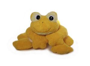 Freaky Frosch Plüschtier, gelb - medium- Riesenfrosch Kuschelfrosch - Schmusetier Spielzeug aus schadstofffreiem Material