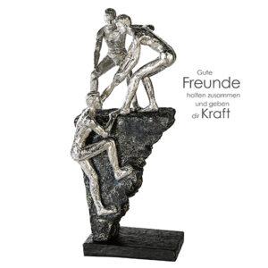 Friends - Freundschaft Skulptur mit Zertifikat und Spruchanhänger
