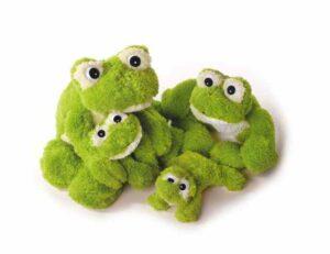 Freaky Frosch Kuscheltier grün Freaky Frosch Kuscheltier mini - XXL,grün Plüschtier Kuschelfrosch - Super Soft Plüsch