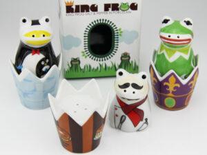 Froschkönig Salz- und Pfefferstreuer - Frosch King - Gewürzstreuer aus Keramik