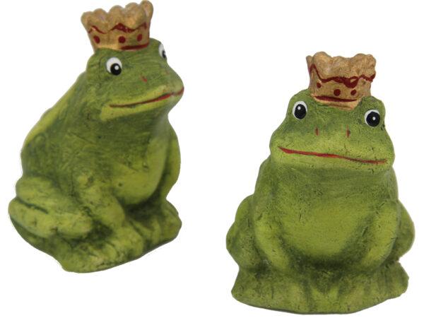 Froschkönig Terracotta Frosch grün