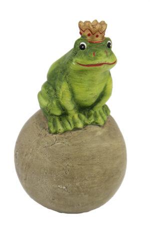 Froschkönig auf Kugel Terracotta Frosch, grün