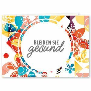 """Mini Klappkarte Wunschkarte """"Bleiben Sie gesund"""""""