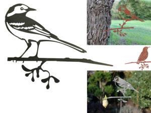 Gartendekoration Metall Vogel Stecker - Baumstecker Glücksvogel Gartenstecker