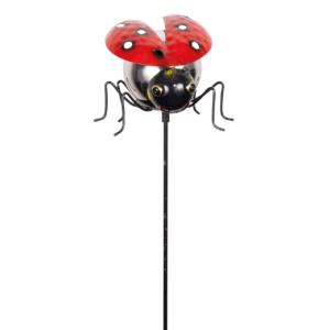 Gartenstecker Marienkäfer - Kugel Ladybird MIRROR Gartenstecker