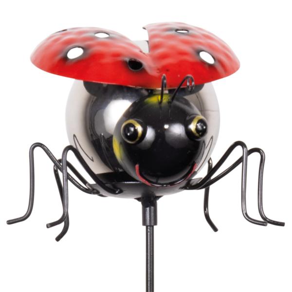 Gartenstecker Marienkäfer - Kugel Ladybird MIRROR Gartenstecker.