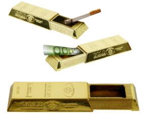 Geldgeschenk als Goldbarren Taschenascher