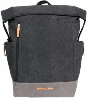 Grauer Rucksack 17 L - Minimalitisches Design - Klapptop mit Klickgurt