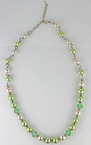 Große Kunststoff Perlen Kette Set oder Einzeln - grün, perle