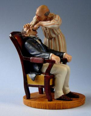 Honoré Daumier Skulptur Zahnarzt - Museums Skulptur Dentist