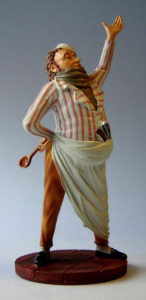 Honoré Daumier Skulptur Gastwirt - Gastronom Museums Skulptur Restaurateur