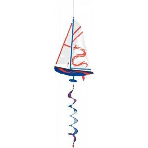 HQ Segler Windspiel Racing Yacht Twist aus Segeltuch - Segelschiff mit Spirale
