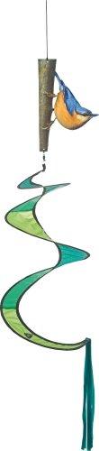 HQ Windspiel Nature Line - heimische Vögel Windspiel - Spirale -Twist-Vogel Kleiber oder Sperber